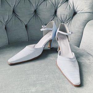 Vintage power blue heels